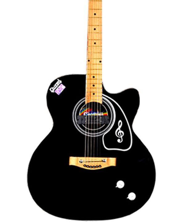 Givson Black Acoustic Guitar With Gig Bag