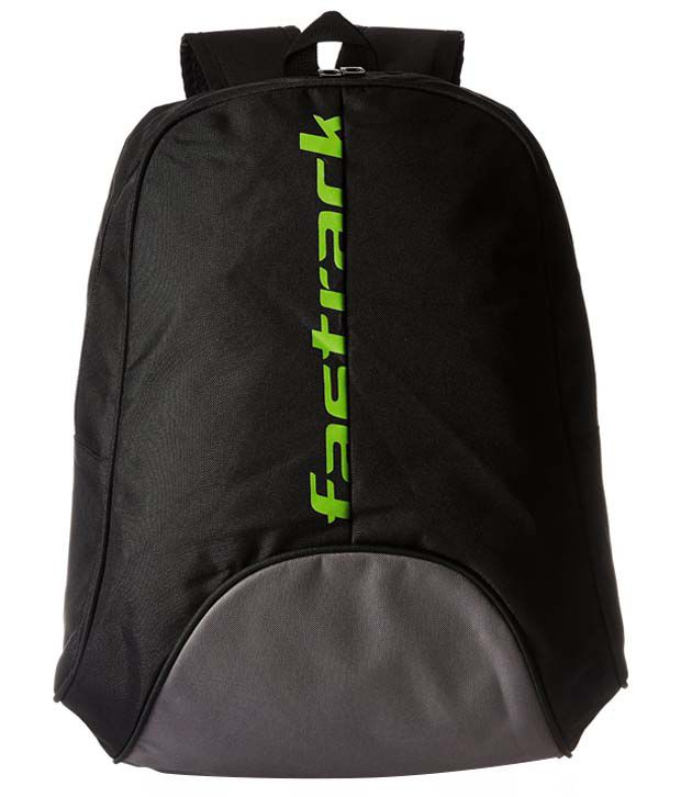Fastrack Black Polyester Backpack