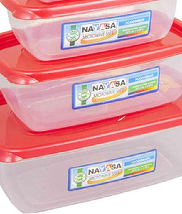 Nayasa Microwave Safe Plastic Containers Set Of 5