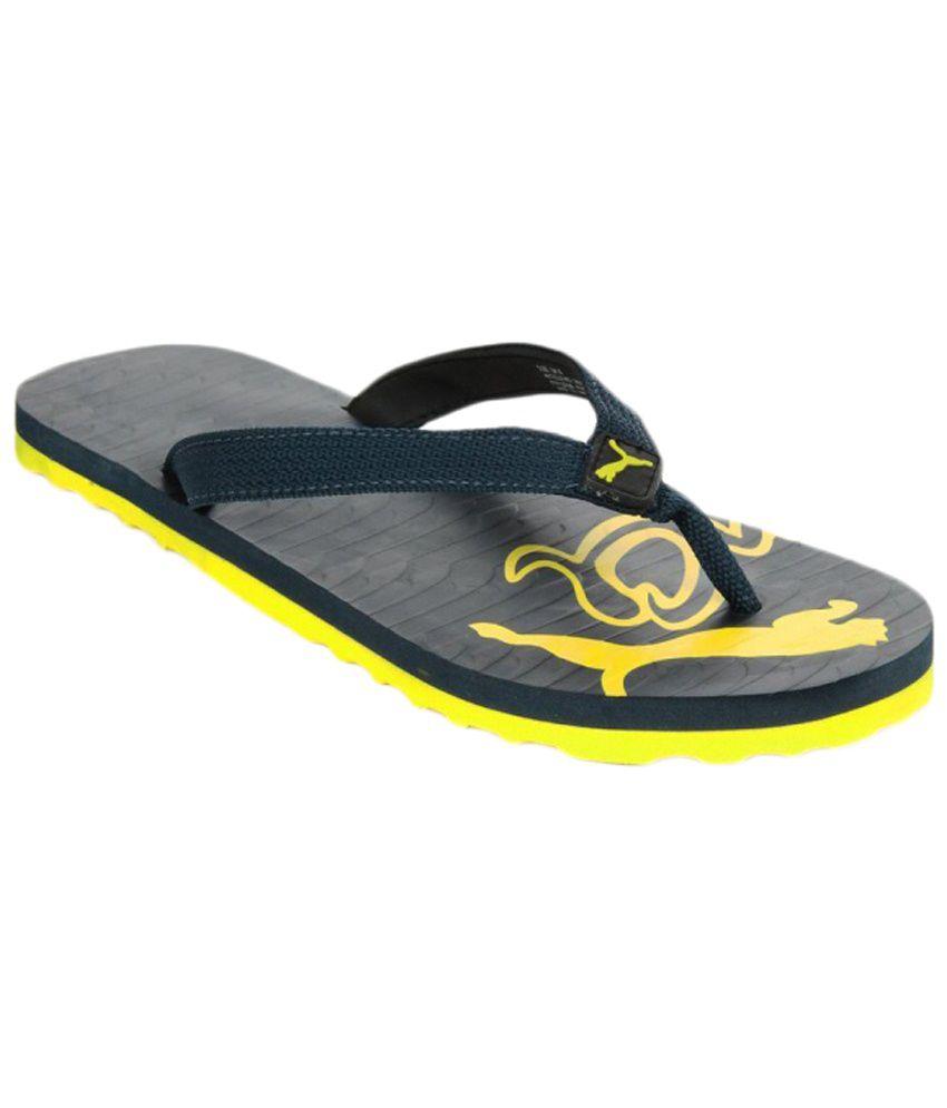 afe70a51db4 Puma Miami Yellow Flip Flops