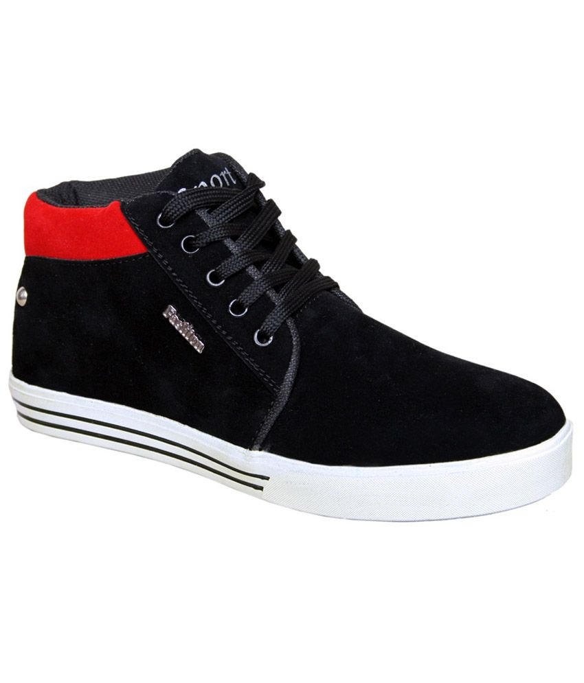 Sukun Black Casual Shoes