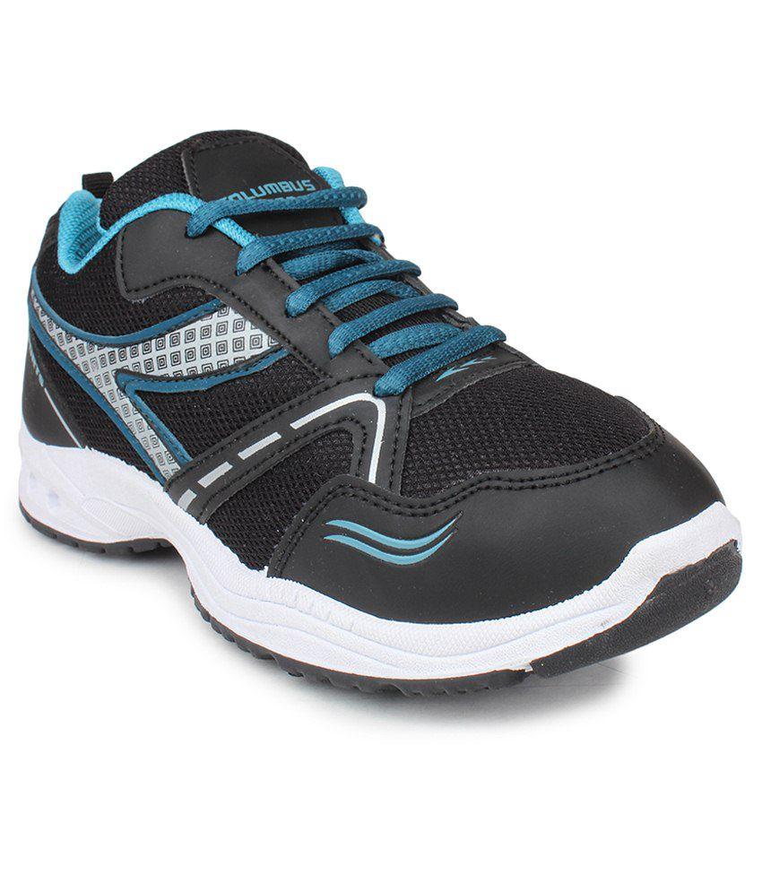 Columbus Black Running Shoes