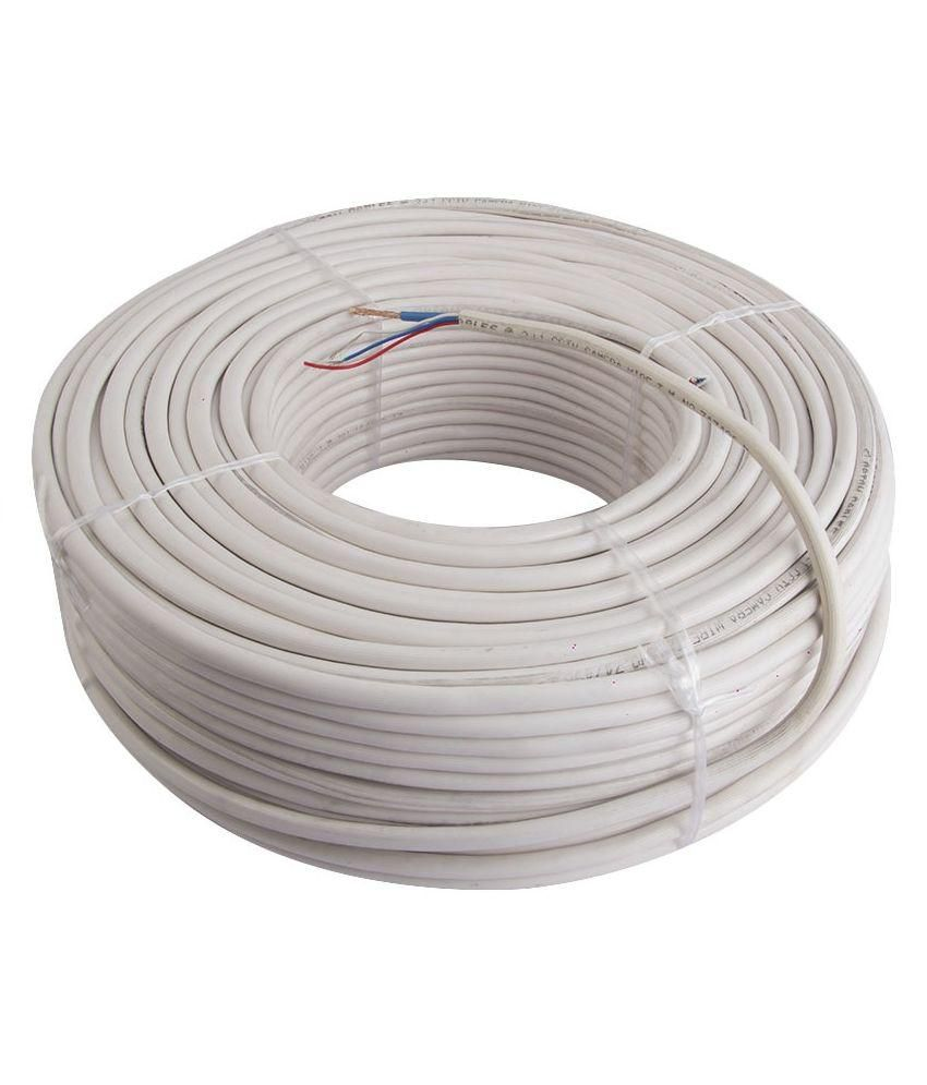 Buy Magnum Elite White Insulated Copper CCTV Wire Roll - 180 Meters ...