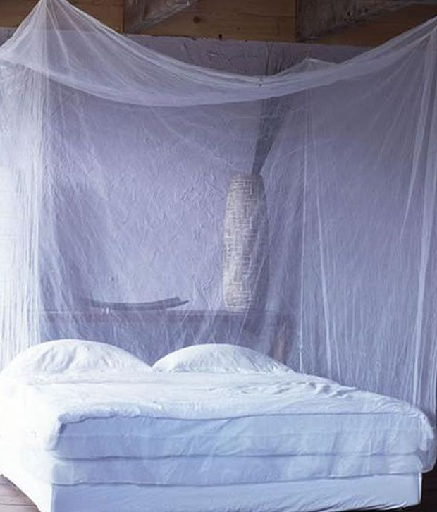 HANDICRAFT Double Nylon Plain Hanging Mosquito Net ... : mosquito tent india - memphite.com