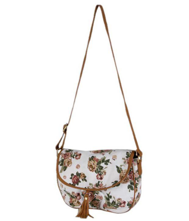 Carry On Bags White Sling Bag