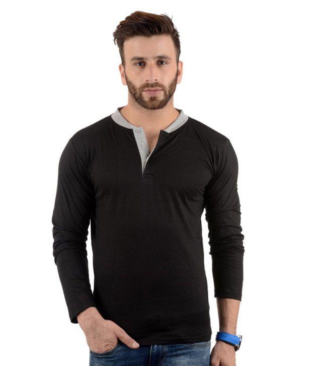 Radbofin Black Cotton T-Shirt