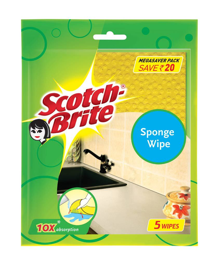 Scotch-Brite Sponge Wipe - Pack of 5