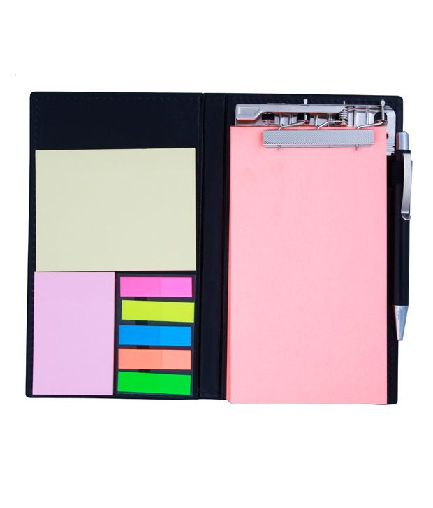 COI Memo Note Pad and Memo Note Book With Sticky Notes and Clip Holder In Diary Style