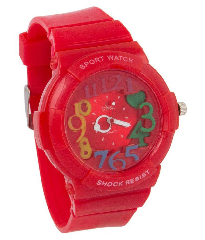 Cosmic Red Analog Watch