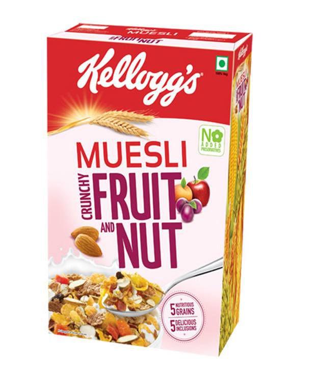 kellogg s muesli fruit nut corn flakes 500 gms