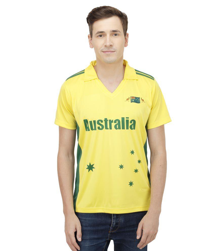 T10 Sports Yellow T Shirts