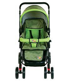 Mee Mee Baby Fully Canopied Pram_Green