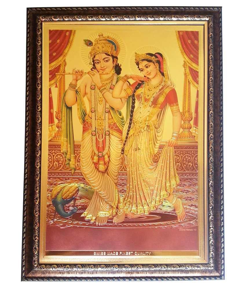 ca474056887c Gold Art 4 U Radhe Krishna Photo Frame  Buy Gold Art 4 U Radhe Krishna  Photo Frame at Best Price in India on Snapdeal