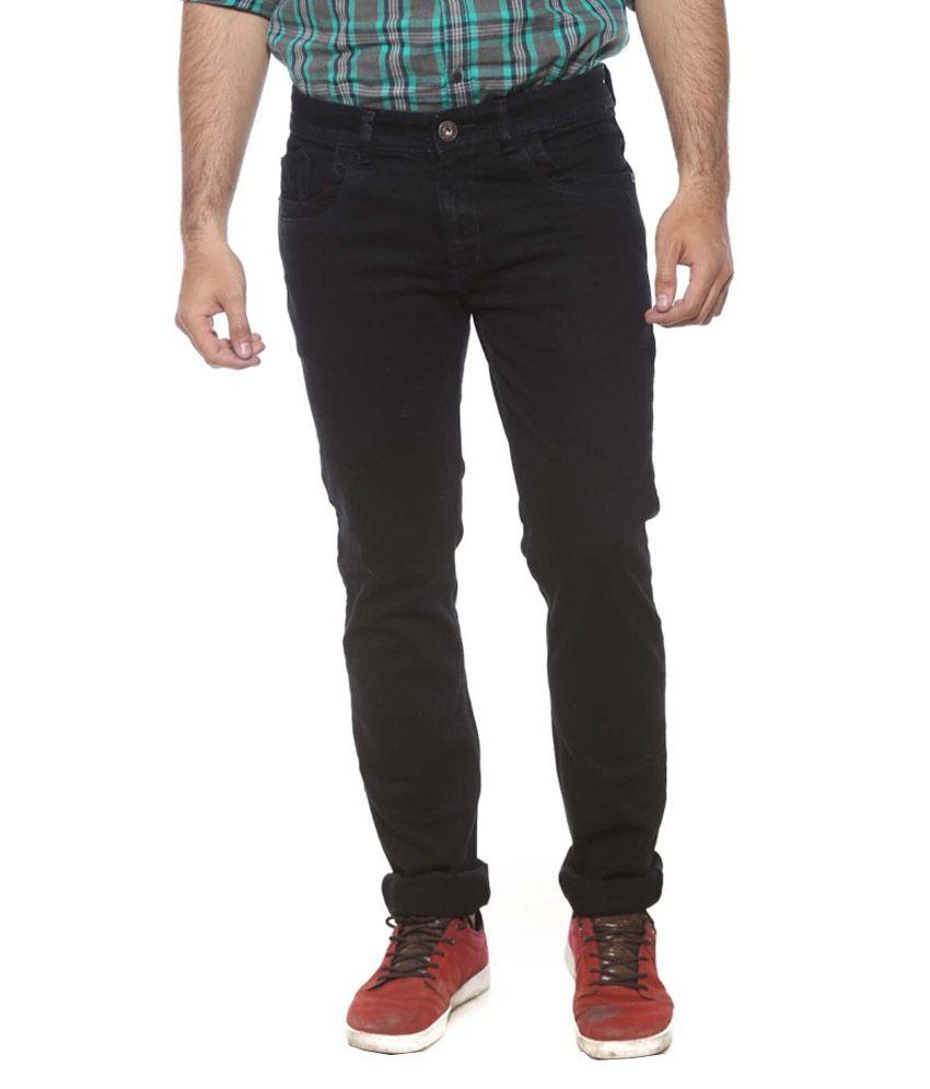 Semicollon Black Slim Fit Jeans