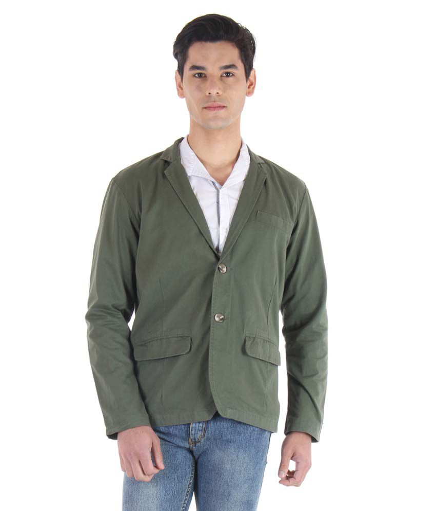 Fifty Two Green Casual Blazers