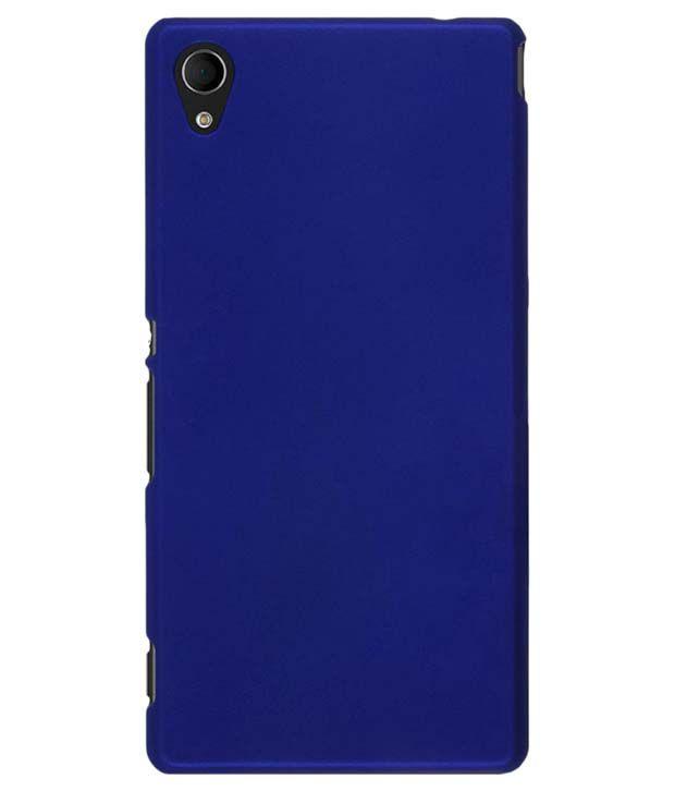 newest 86059 bdb3f KingCase Plain Back Cover Case For Sony Xperia M4 Aqua Dual Sim - Blue