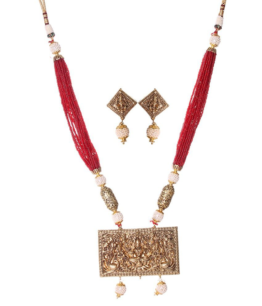 Slice Of Bengal Golden Alloy Necklace Set