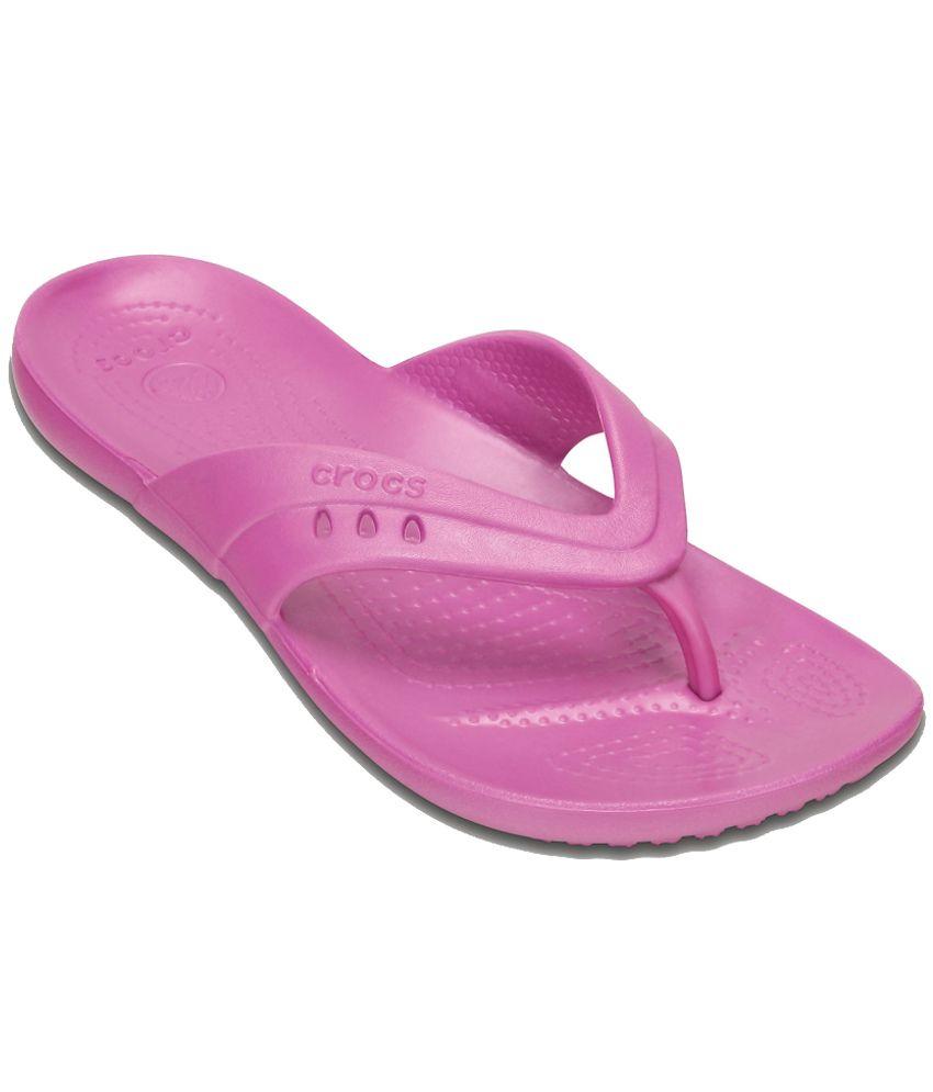 fb507bd06385d Crocs Relaxed Fit Pink Slippers   Flip Flops