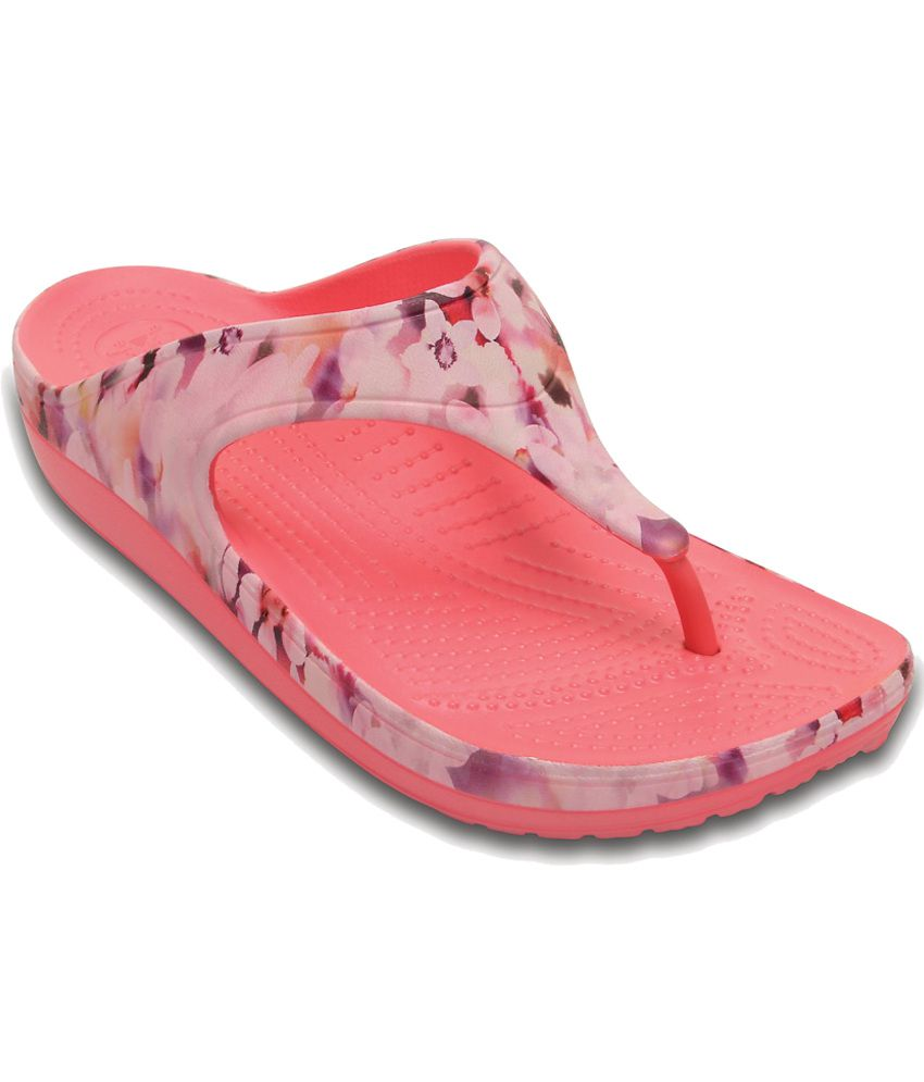 Crocs Standard Fit Pink Slippers & Flip Flops