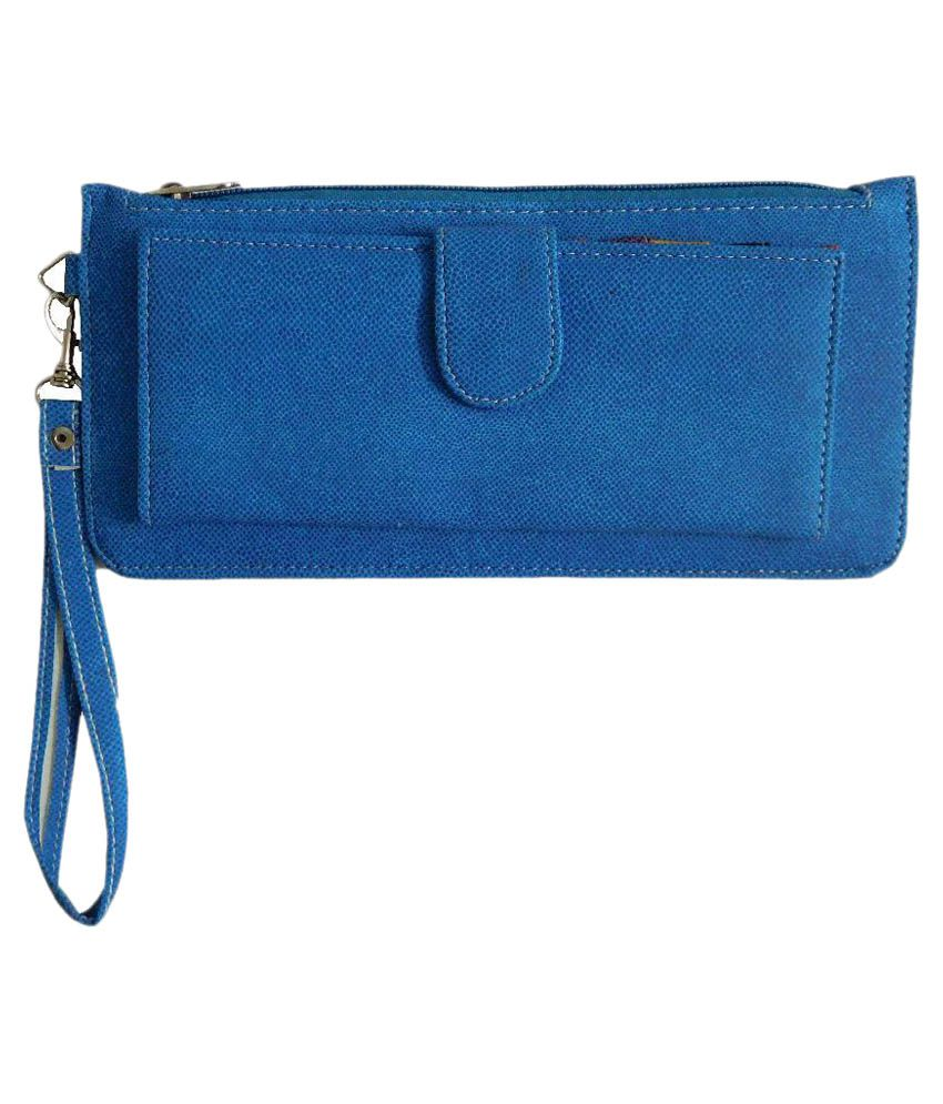 Samco Fas Blue Wallet For Women
