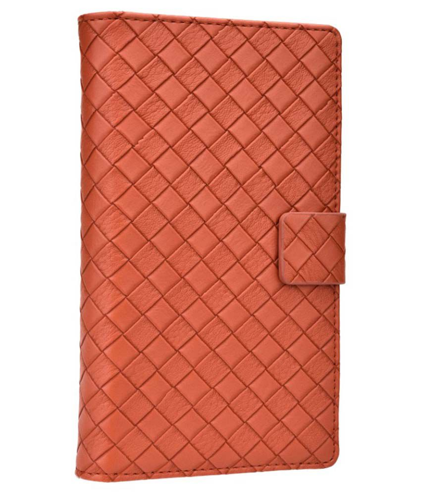 Jo Jo Leather Pouch Flip Cover Case For Obi Worldphone SF1 - Brown