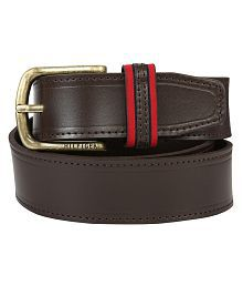Tommy Hilfiger Casual Brown Casual Leather Belt For Men