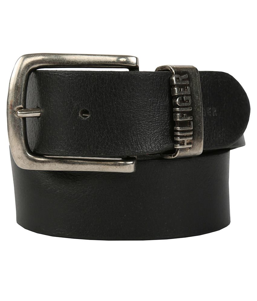 Tommy Hilfiger Casual Black Casual Leather Belt for Men