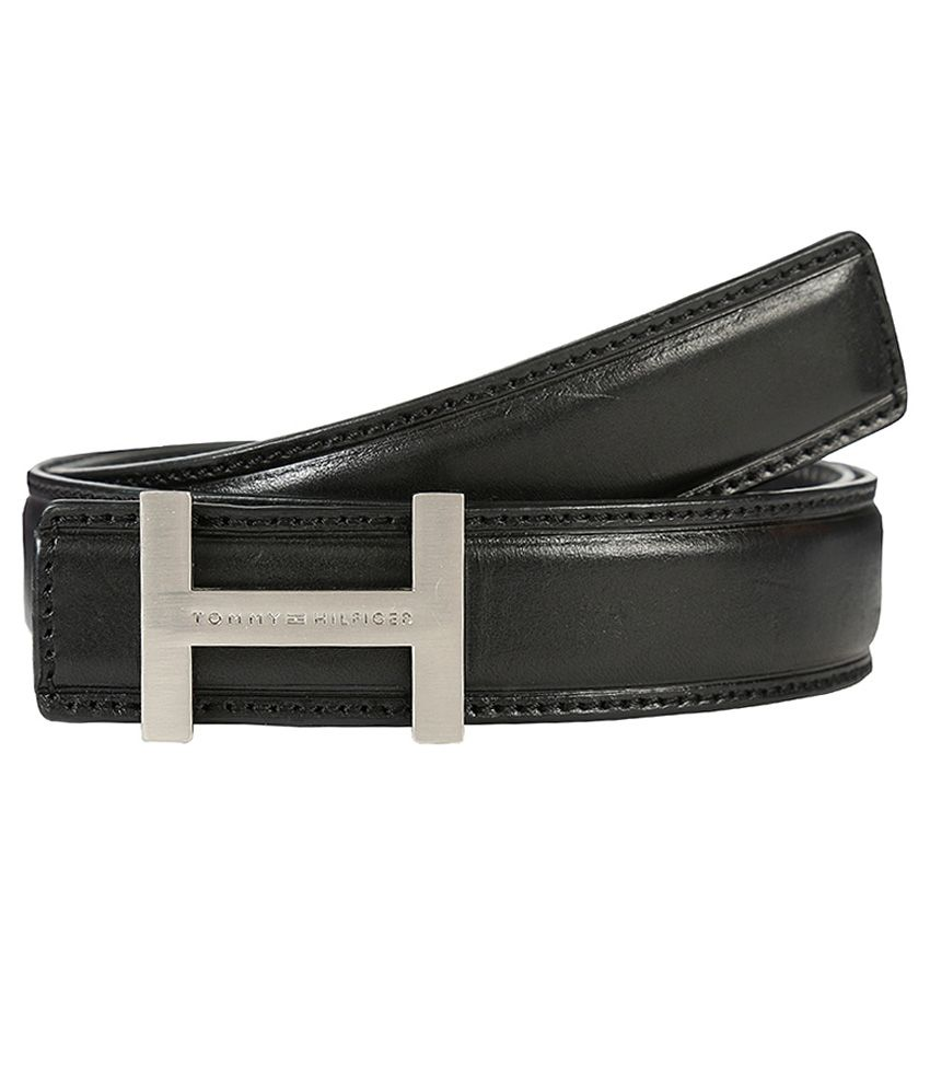 dd005de725d Tommy Hilfiger Formal Black Formal Leather Belt for Men  Buy Online at Low  Price in India - Snapdeal