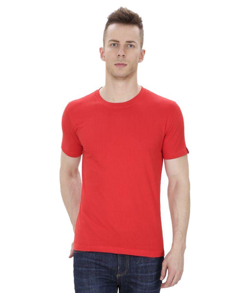 IZOR Red Round T Shirts