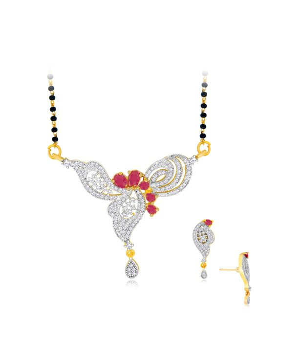 Spargz Traditional Mangalsutra Set Studded with CZ Stone