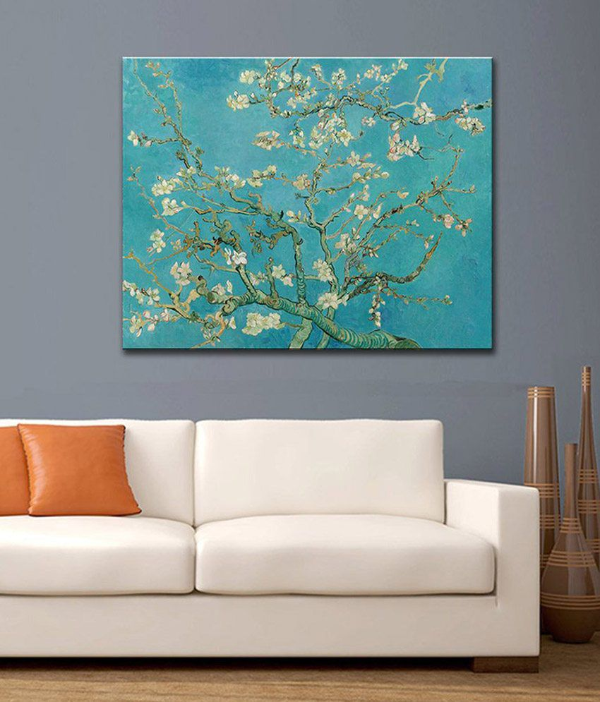Tallenge Almond Branches In Bloom By Vincent Van Gogh Rolled Canvas Art Print