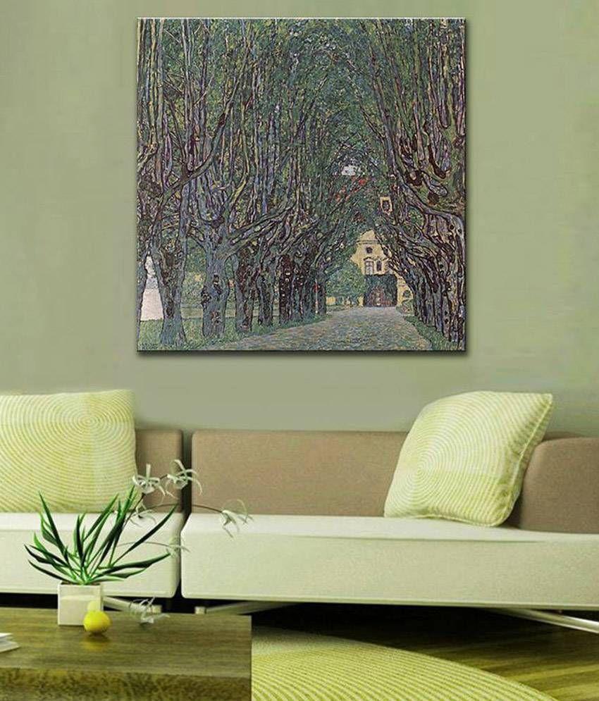 Tallenge Avenue of Schloss Kammer Park By Gustav Klimt Gallery Wrap Canvas Art Print