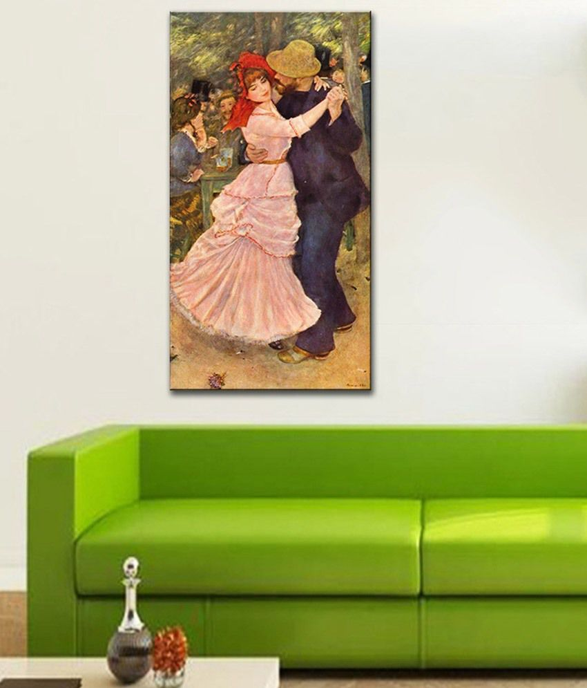 Tallenge Dance at Bougival By PierreAuguste Renoir Gallery Wrap Canvas Art Print