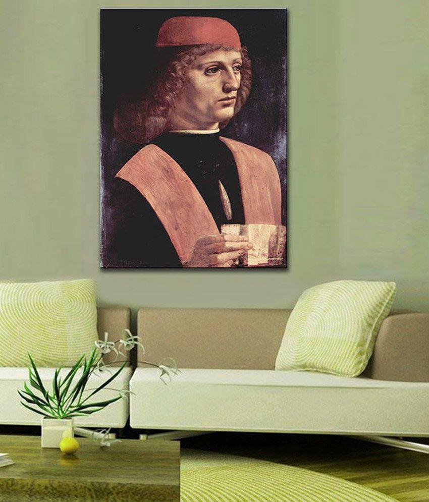 Tallenge Leonardo da Vinci Portrait of a Musician By Leonardo da Vinci Rolled Canvas Art Print