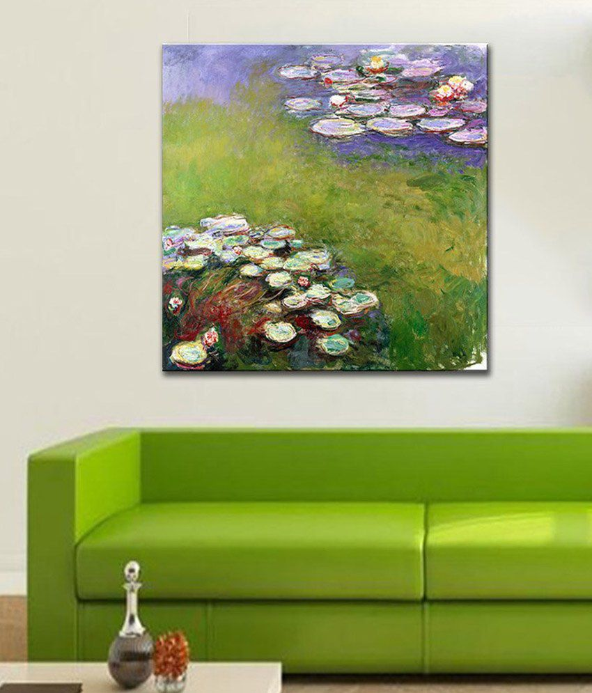 Tallenge Nympheas By Claude Monet Rolled Canvas Art Print
