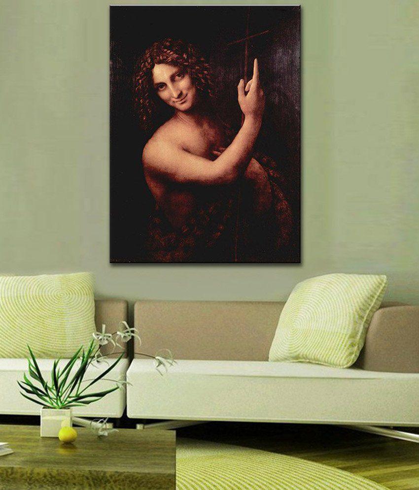 Tallenge St. John the Baptist By Leonardo da Vinci Gallery Wrap Canvas Art Print
