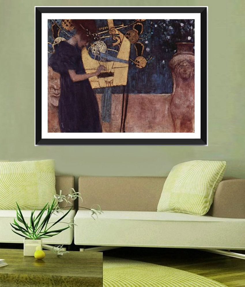 Tallenge The Music By Gustav Klimt Framed Art Print