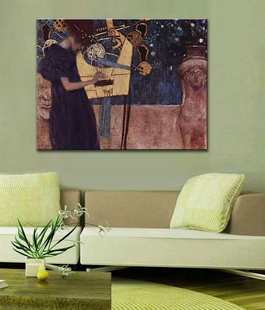 Tallenge The Music By Gustav Klimt Gallery Wrap Canvas Art Print