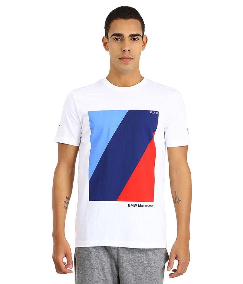 Puma White BMW Motosport T Shirt