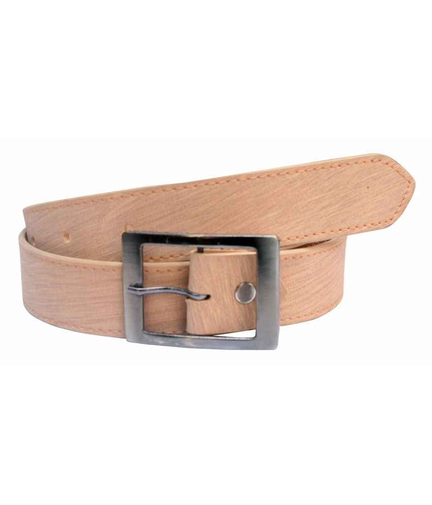 Winsome Deal Beige Formal Non Leather Belt for Men