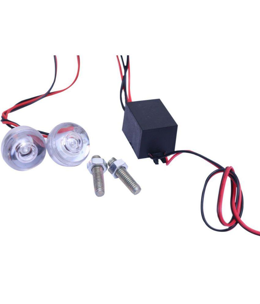 LED Strobe Warning Light Bike, Red Colour - Flashing ( 1Set ): Buy ...