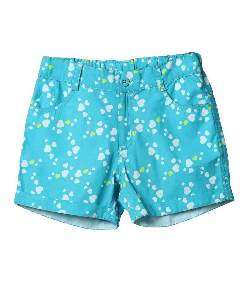 Beebay Turquoise Shorts For Girls