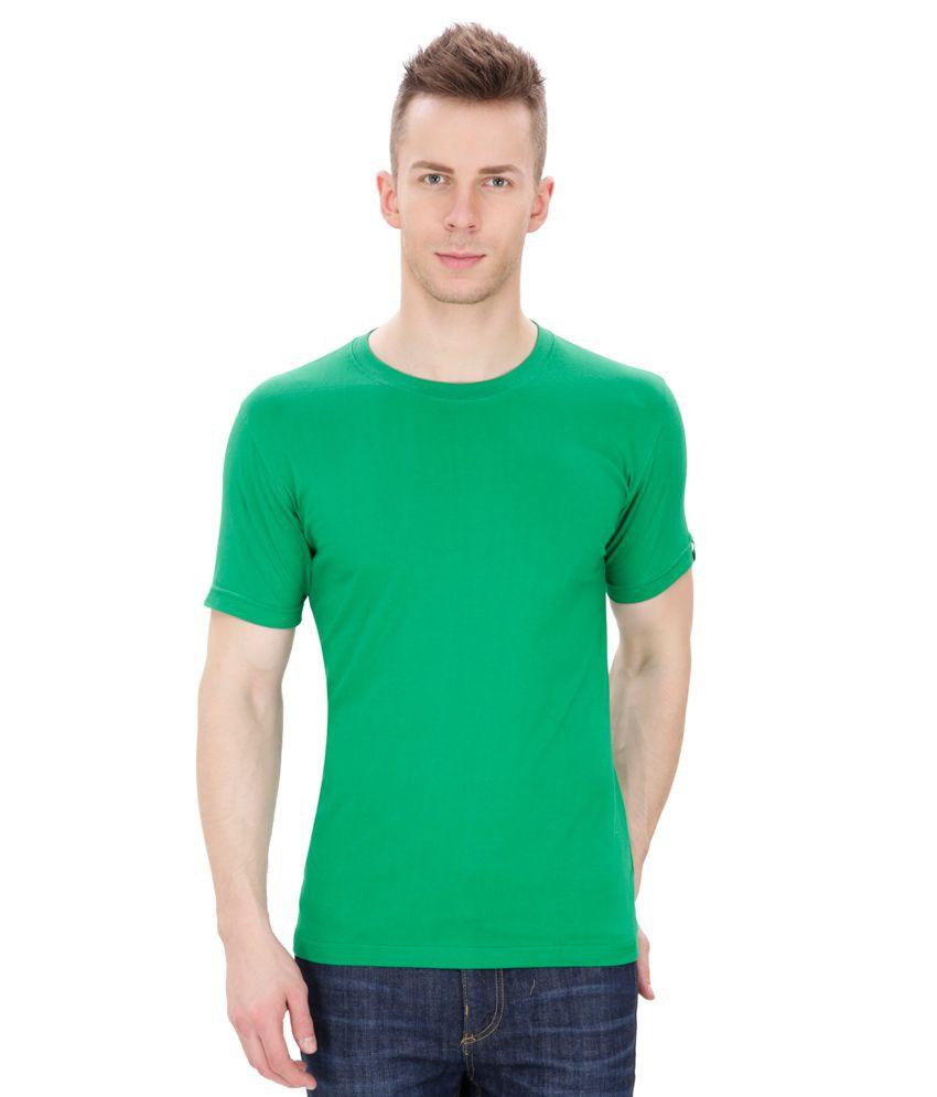 Izor Green Round T Shirts No