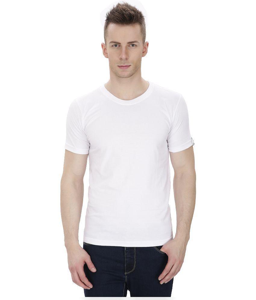 Izor White Round T Shirts No
