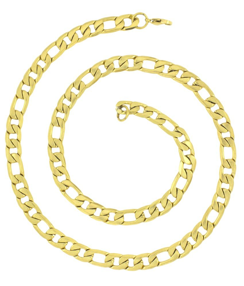 The Jewelbox Golden Stainless Steel Chain