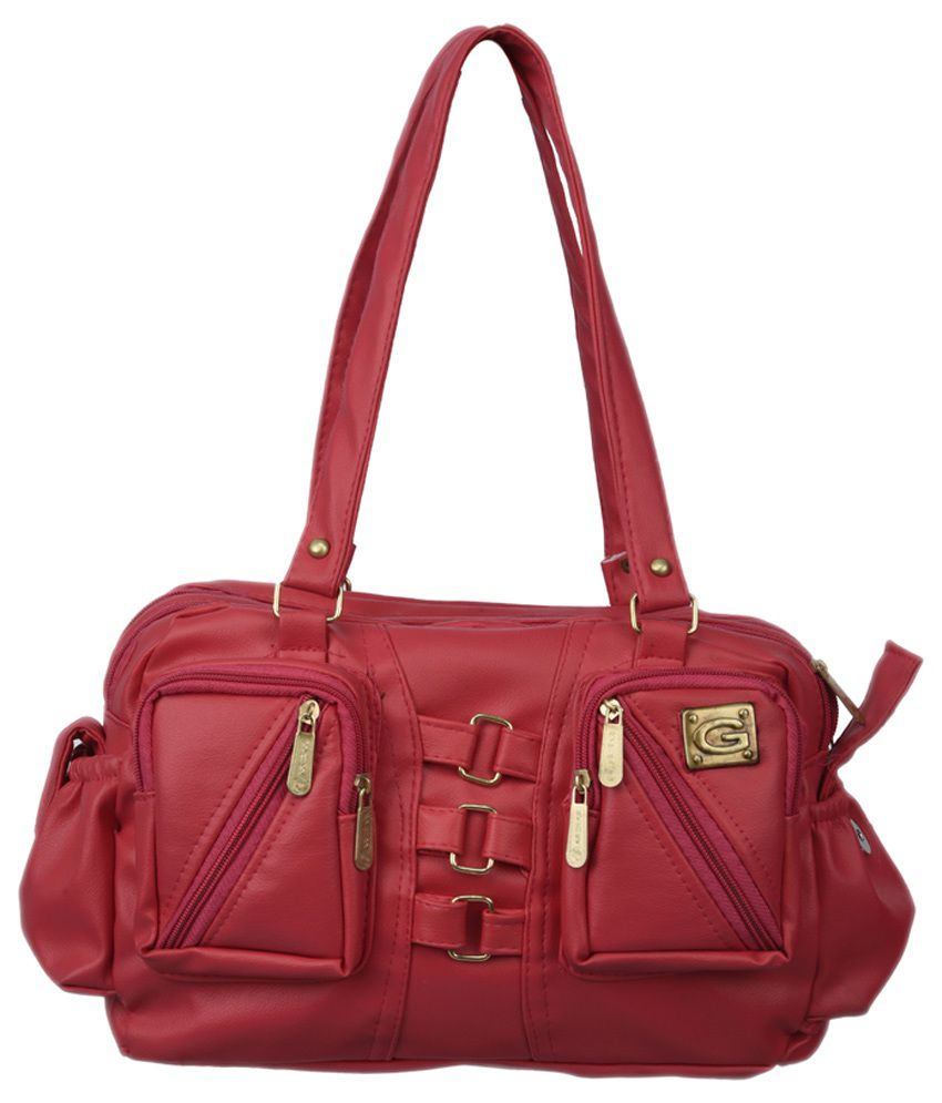 Diamonds World Red Synthetic Shoulder Bag