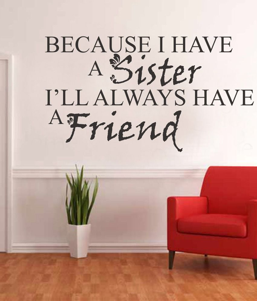 Sister Quote | Impression Wall Sister Quote Design Wall Sticker Buy Impression
