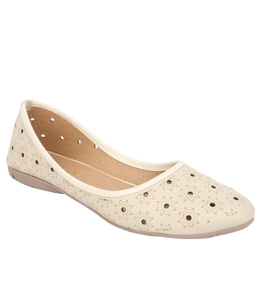 sindhi footwear beige ballerinas price in india buy