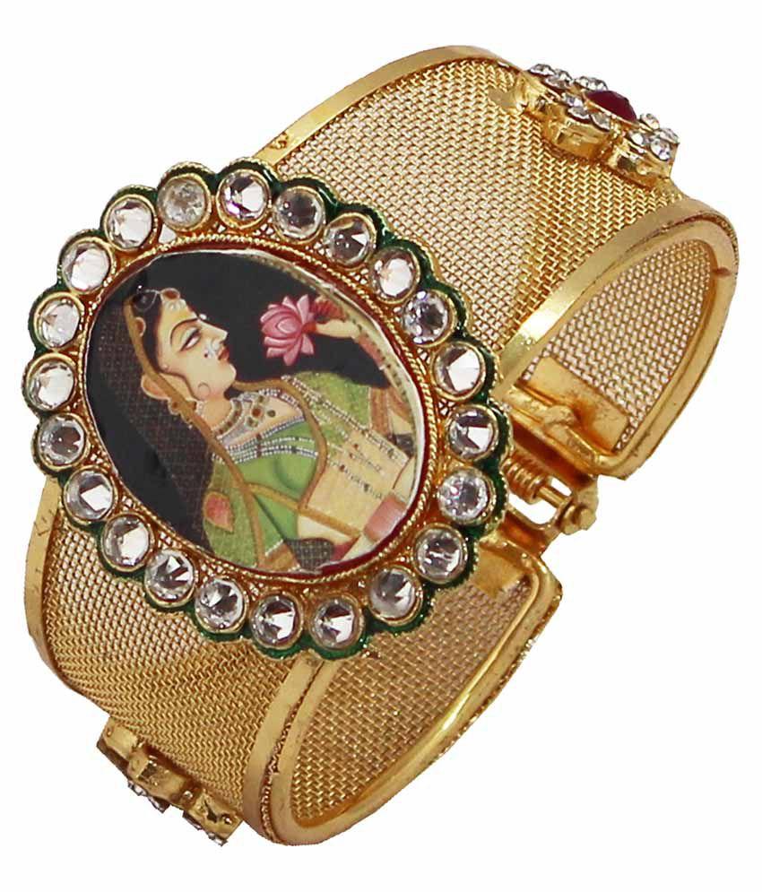 Soni Art Jewellery Golden Alloy Kadas