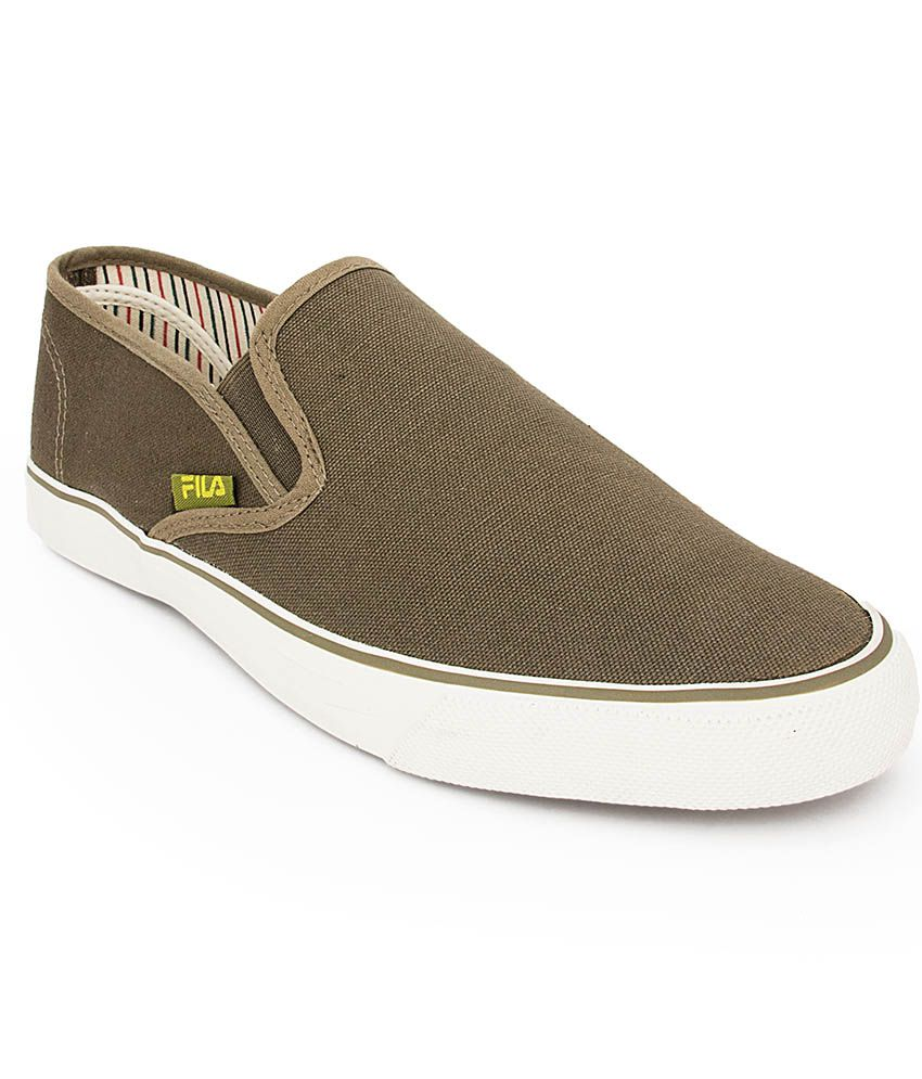 Fila Green Canvas Shoes  available at snapdeal for Rs.907